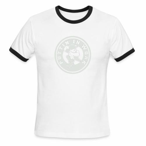 P.I.W White Logo - Men's Ringer T-Shirt