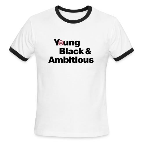 YBA white and gray shirt - Men's Ringer T-Shirt