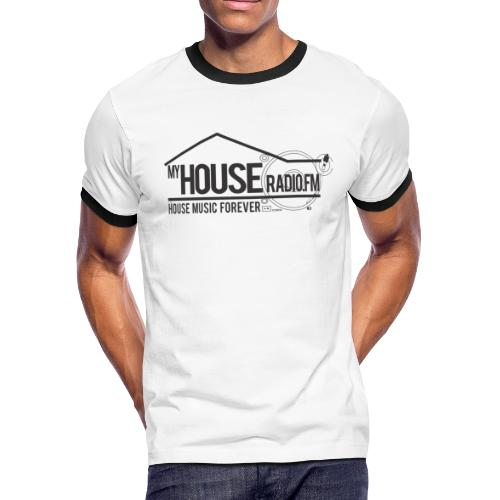 My House Radio Black Logo - Men's Ringer T-Shirt