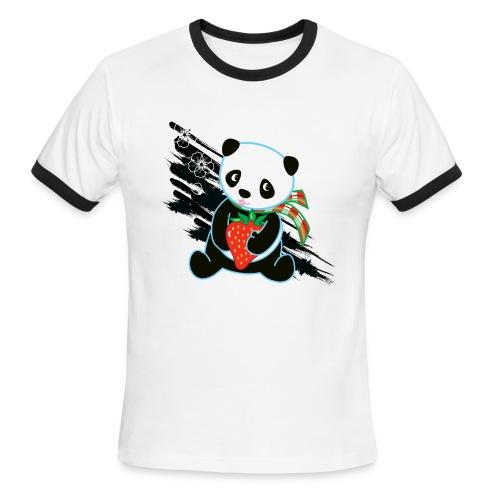 Cute Kawaii Panda T-shirt by Banzai Chicks - Men's Ringer T-Shirt