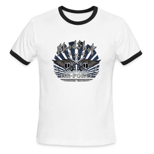 BloodShot Air Force with black - Men's Ringer T-Shirt