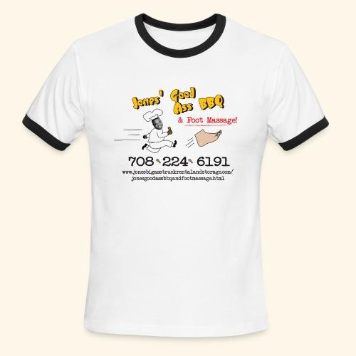Jones Good Ass BBQ and Foot Massage logo - Men's Ringer T-Shirt