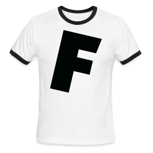 F slanted - Men's Ringer T-Shirt