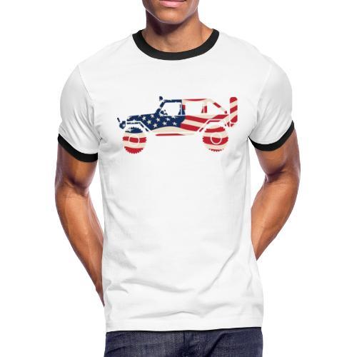 American Patriotic Off Road 4x4 - Men's Ringer T-Shirt