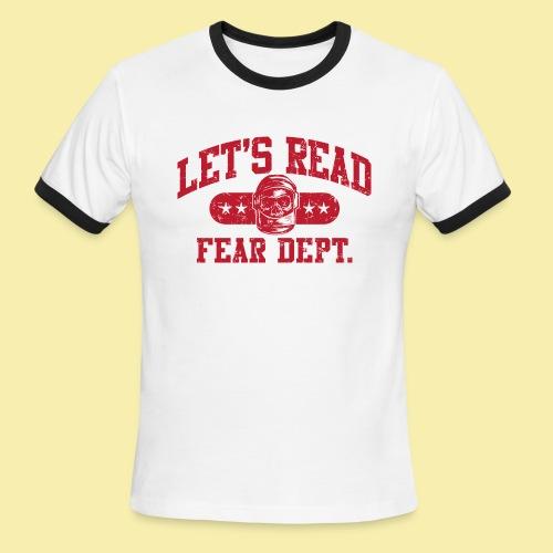 Athletic - Fear Dept. - RED - Men's Ringer T-Shirt