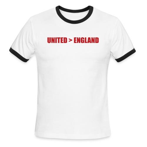 United better than England - Men's Ringer T-Shirt