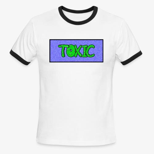 Toxic design v2 Blue - Men's Ringer T-Shirt