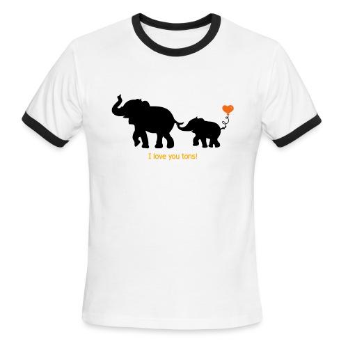 I Love You Tons! - Men's Ringer T-Shirt