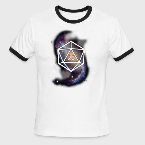 Astronomy Geek d20 Galaxy - Men's Ringer T-Shirt