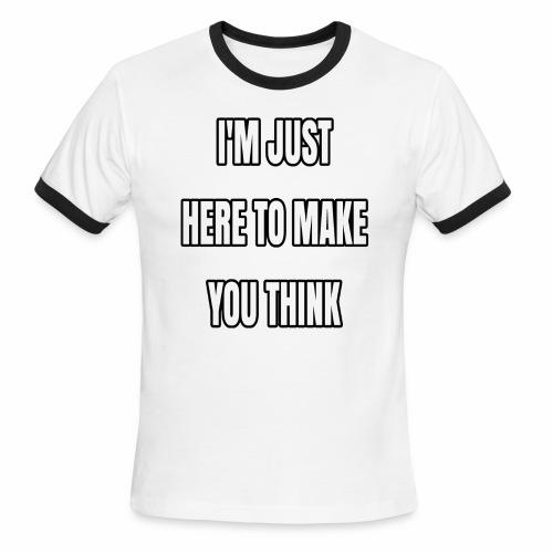 IJHTMYT (White Font) - Men's Ringer T-Shirt