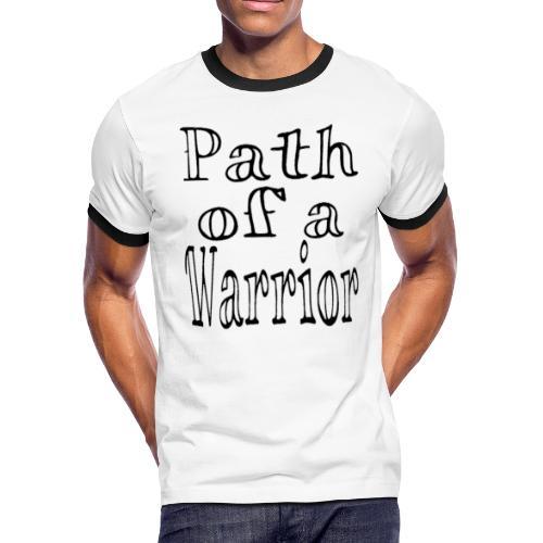 Path of a Warrior (White) - Men's Ringer T-Shirt
