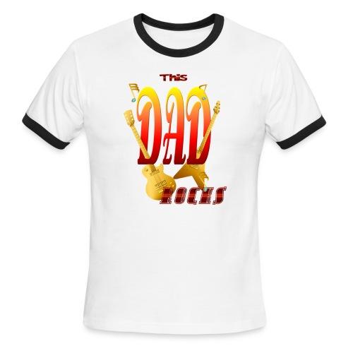 This Dad Rocks! - Men's Ringer T-Shirt