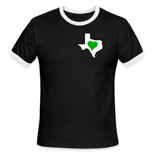 Texas Green Heart - Men's Ringer T-Shirt
