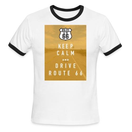 Route 66 Keep Calm T-Shirt - Men's Ringer T-Shirt