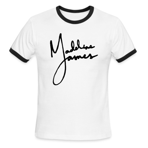 Madeline James (Light/Dark) - Men's Ringer T-Shirt