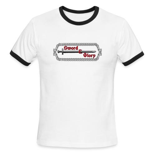 Sword & Glory Logo - Men's Ringer T-Shirt
