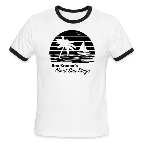 Ken's Awesome Monochrome Logo - Men's Ringer T-Shirt