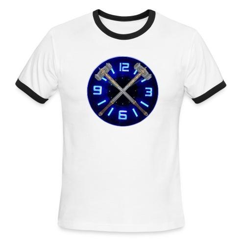 Hammer Time T-Shirt- Steel Blue - Men's Ringer T-Shirt