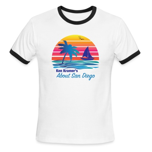 Ken's Exciting Color Logo - Men's Ringer T-Shirt