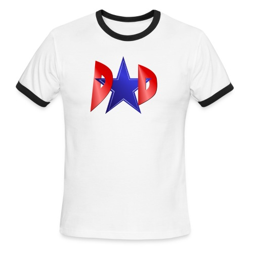 Blue Star Dad - Men's Ringer T-Shirt