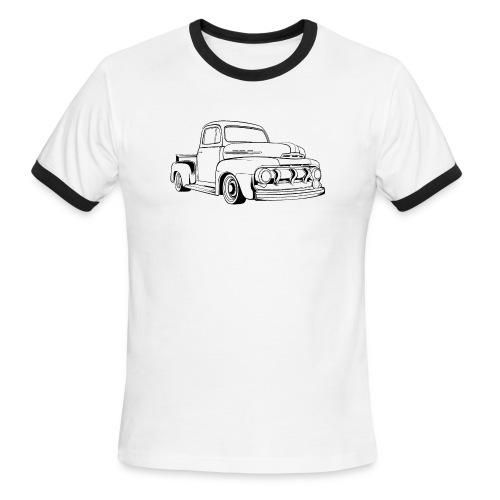 1951 F100 Classic Pickup Truck Men's T-Shirt - Men's Ringer T-Shirt