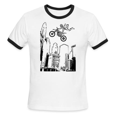 Dirt Biking City-Scraper - Men's Ringer T-Shirt