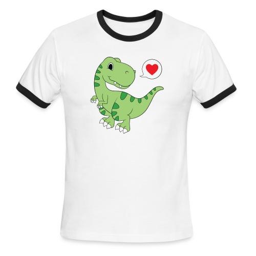 Dinosaur Love - Men's Ringer T-Shirt