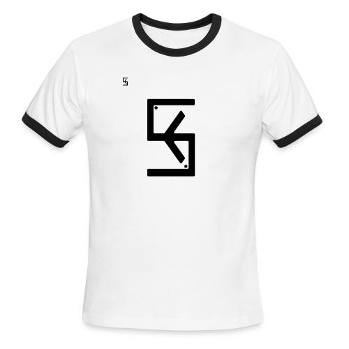 Soft Kore Logo Black - Men's Ringer T-Shirt