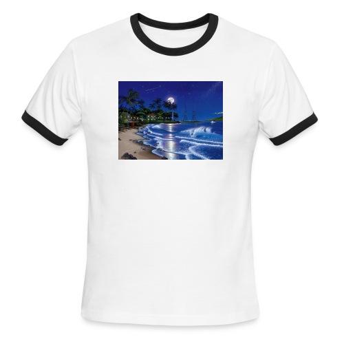 full moon - Men's Ringer T-Shirt