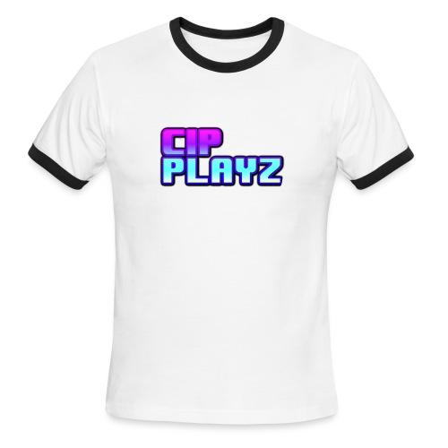 CipPlayz MIAMI TEXT - Men's Ringer T-Shirt