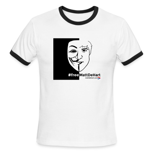 freemattdehart gif - Men's Ringer T-Shirt