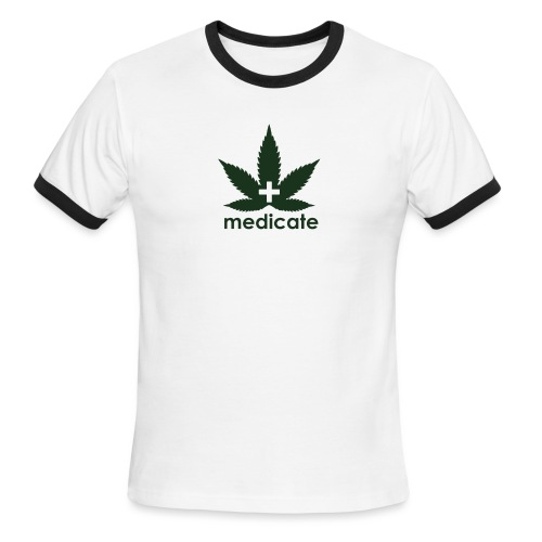 Medicate Supporter - Men's Ringer T-Shirt