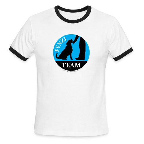 FENZITEAM Logo W - NOT FOR BLACK - Men's Ringer T-Shirt