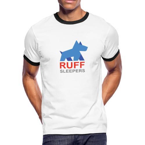 ruffsleepers logo 01 - Men's Ringer T-Shirt