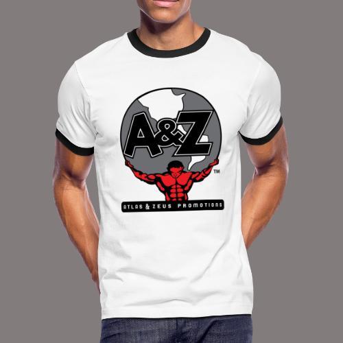 A Z Logo Randy Santel - Men's Ringer T-Shirt