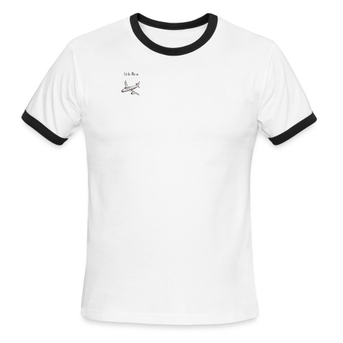 Little Plane Logo - Men's Ringer T-Shirt