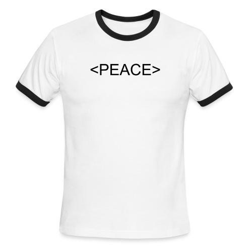HTML Start Peace - Men's Ringer T-Shirt