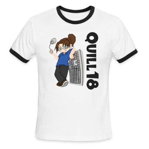 Quill18 Old School Logo - Men's Ringer T-Shirt