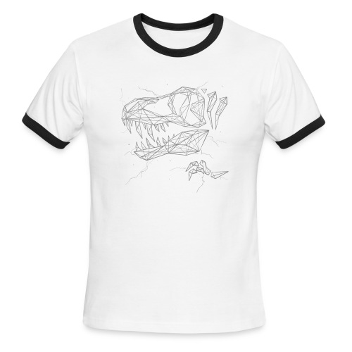 Jurassic Polygons by Beanie Draws - Men's Ringer T-Shirt