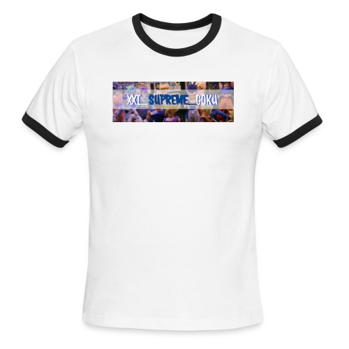 XXI SUPREME GOKU LOGO 2 - Men's Ringer T-Shirt