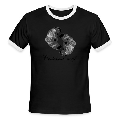 croissant3 black - Men's Ringer T-Shirt