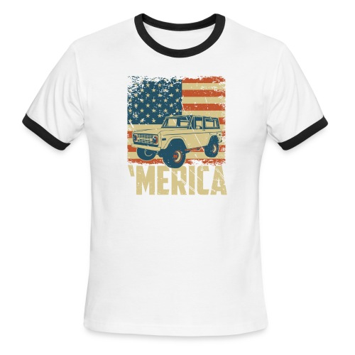 Bronco Truck 'merica Classic Off-Road T-shirt - Men's Ringer T-Shirt