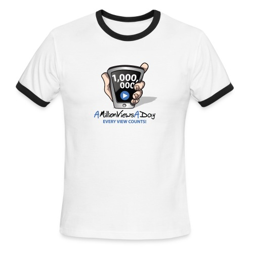 AMillionViewsADay - every view counts! - Men's Ringer T-Shirt