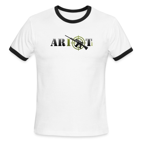 ar10tlogo - Men's Ringer T-Shirt