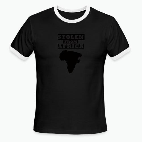 STOLEN FROM AFRICA LOGO - Men's Ringer T-Shirt
