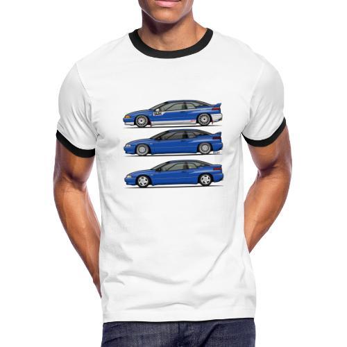 Subie Alcyone SVX Laguna Blue Pearl Trio - Men's Ringer T-Shirt