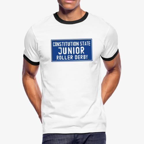 Constitution State Junior Roller Derby - Men's Ringer T-Shirt