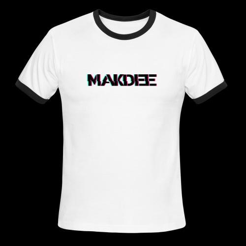 MakDee Glitch Logo - Men's Ringer T-Shirt