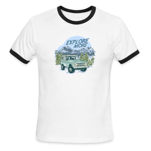 Bronco Truck Explore more II Graphic T-Shirt - Men's Ringer T-Shirt