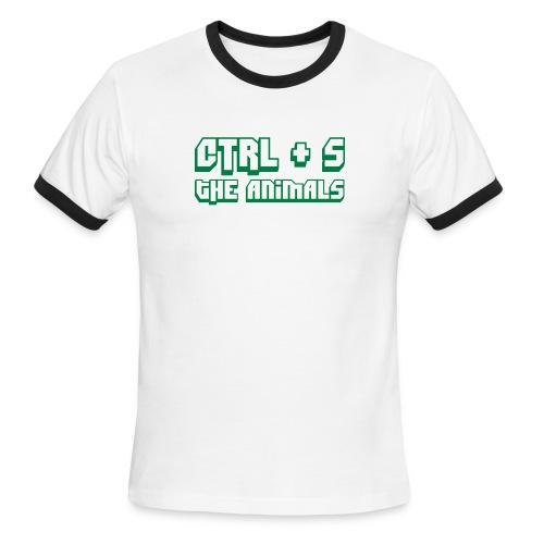 CTRL S The Animals - Men's Ringer T-Shirt
